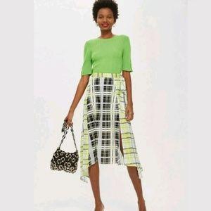 NWOT Topshop asymmetrical midi skirt. Size 4